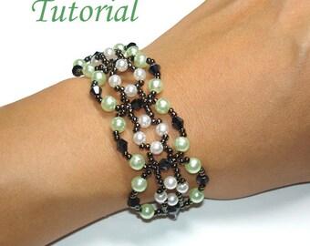 Beading Tutorial - Beaded Candy Pretzel Bracelet Pattern