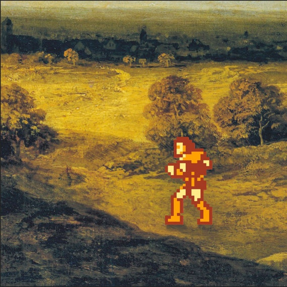 Castlevania gaming wall art // Nintendo NES 8 bit gift