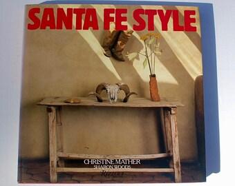 Santa Fe Style Christine Mather Sharon Woods 1986 vintage interior design architecture book