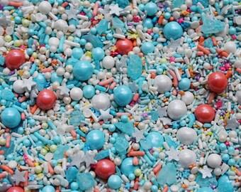 Edible Sprinkles - Mermaid Dream Sprinkle Mix - pastel - 8 oz