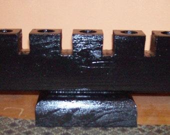 KINARA - KWANZAA Wooden CANDLEHOLDER  Black Kwanzaa Pre-Season Sale
