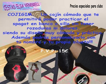 COJIGIM a comfortable cushion that will allow you to practice the Spagat in bench or chair without chafing or pain