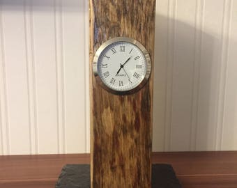 Upcycled reclaimed wood clock