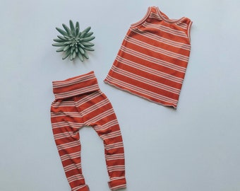 Baby Unisex tank and pants set, Harem pants,going home outfit, Vintage Style, Modern cothes