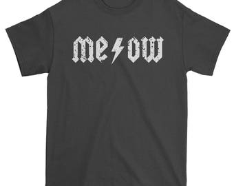 Meow Lightning Bolt Mens T-shirt