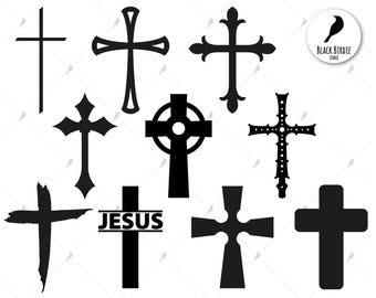 Cross svg, cross clipart, christian svg, Jesus svg, Jesus clipart, church svg, cricut silhouette – eps, dxf, png, pdf, svg – digital files