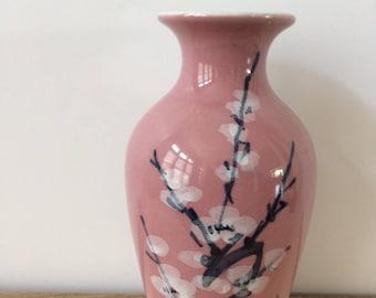 Chinoiserie cherry blossom vase