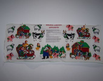 Holiday Friends Appliques Panel
