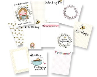 A Busy Bee Makes Time for Tea Journal Card Pack