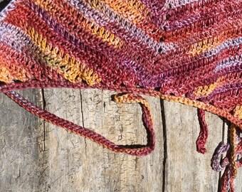 Warm Multi-colored Tie Halter Top