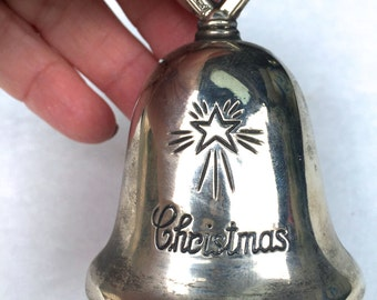 Vintage  Silver Christmas Bell, Riamond of Italy
