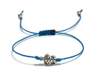 Sea Turtle Bracelet, Turtle Bracelet, Turtle Jewelry, Tortoise Bracelet, Tortoise Jewelry, String Bracelet, Thread Bracelet, Beach Jewelry