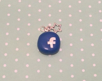Polymer Clay Facebook Charm