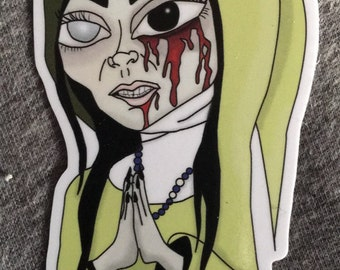 Zombie Nun Sticker