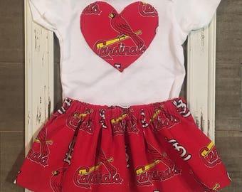 St louis etsy st louis cardinals onesie stl onesie st louis cardinals skirt baby negle Gallery