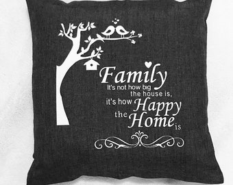 Family Happy Home pillow