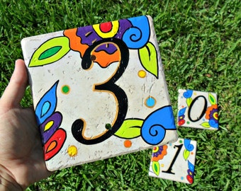House Numbers address tiles SPANISH COOL