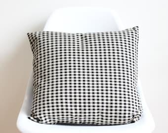 Black and white cushion cover, Throw cushion cover, Scatter cushion cover, Throw pillow cover, Decorative pillow cover
