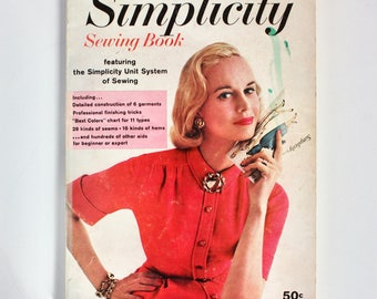 1961 Simplicity Sewing Book- 144 pages of clothing construction knowledge!