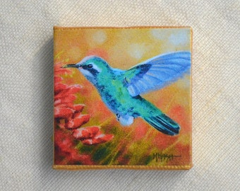 """Hummingbird Magnet/ Bird Magnet / *MORE MAGNETS* available under """"Ornaments & Magnets"""" section"""