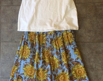 90s Vintage Sunflower walking shorts
