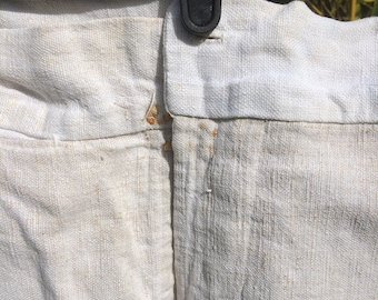 Linen with repairs pants
