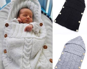Hand knitted baby snuggle