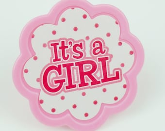 It's a Girl Polka Dot Toppers - Set of 12 - SW530