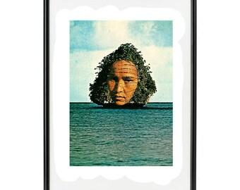 "Handmade collage paper ""Karmaquatic"""