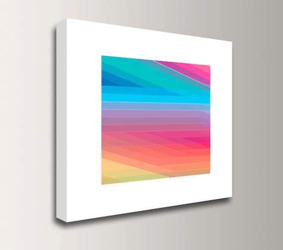"Colorful Art - Canvas Print - Modern Art Print - Rainbow Colors - ""Spectrum 2"""