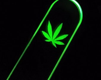 Impact-sensitive - green LED - acrylic paddle - 4/20 - LIMITED STOCK!
