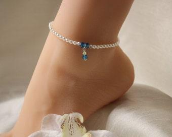 Wedding anklet Etsy