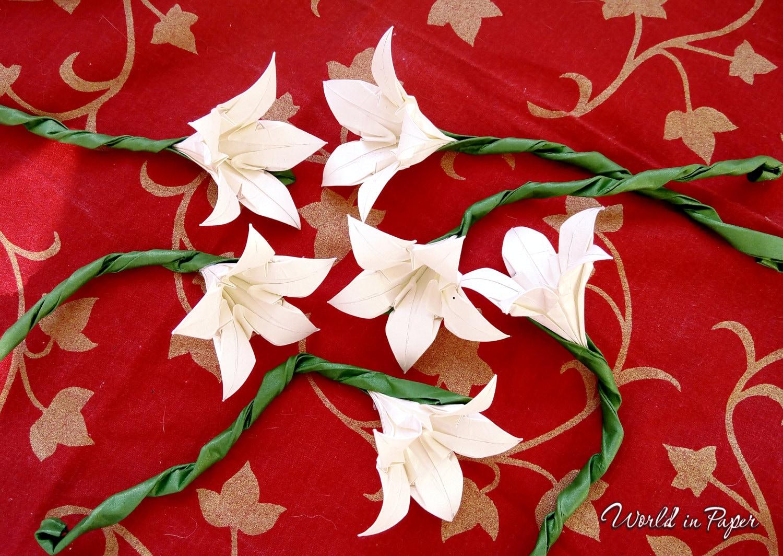 Origami iris flowers iris wedding paper flowers snow white zoom izmirmasajfo
