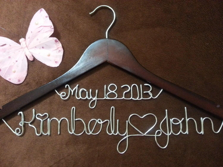 Personalisierte Hochzeit Kleiderbügel Bridal Kleiderbügel