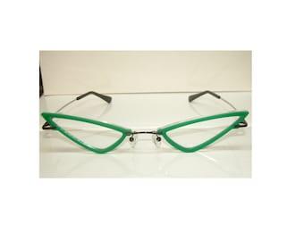 Wide Green V type DRGF Cosplay Costume Glasses