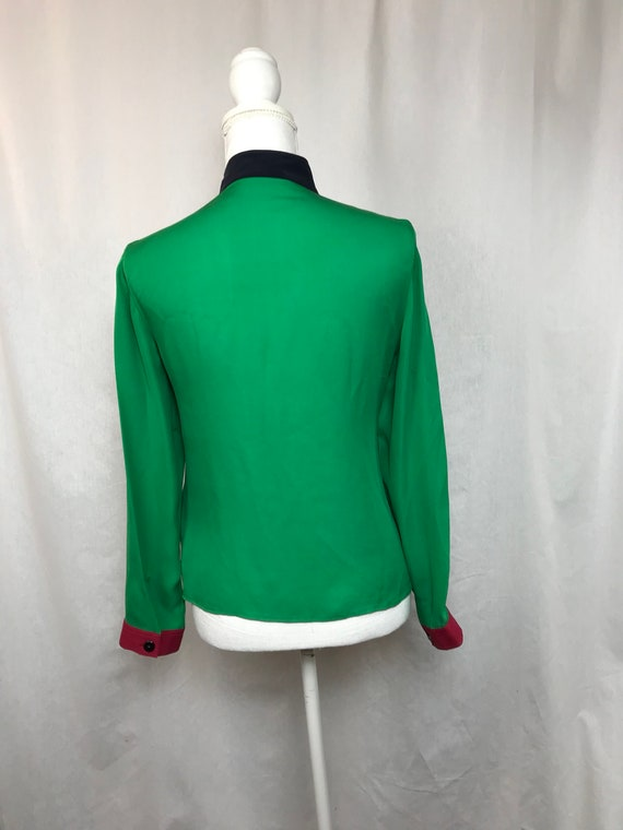silk colours size Reserved blouse vintage shirt green shirt ARMANI S silk shirt Armani bright shirt multicolor Armani gOrwqXvOx