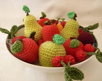 Crochet fruit assortment