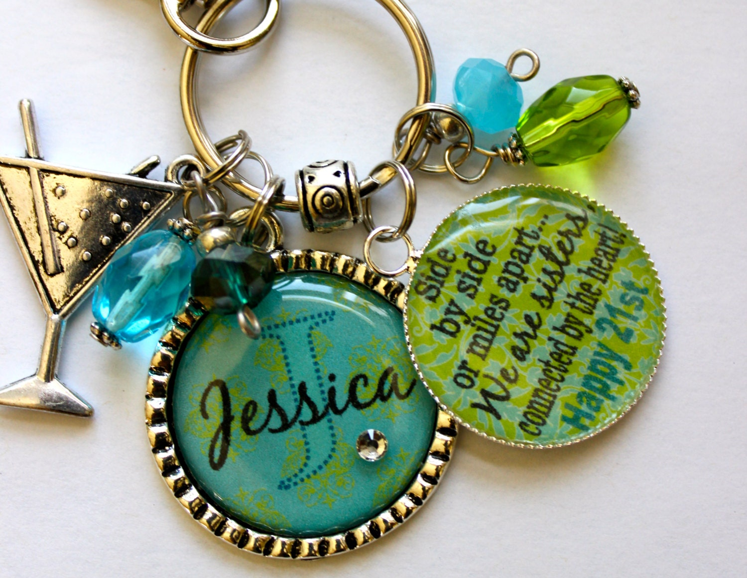 Your Name Here Personalized 21st Birthday Gift Sister Aunt Daughter Best Friend Side By Miles Apart