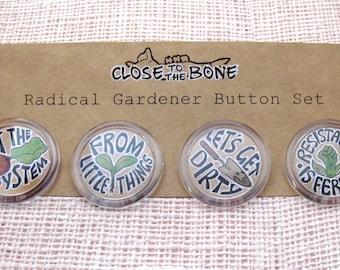 Radical Gardener Button Set