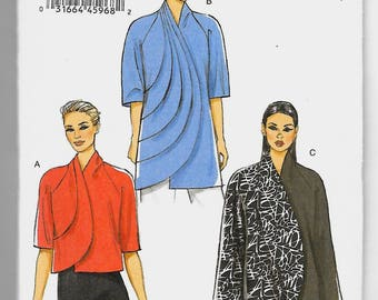 V9096 Vogue Women's Jackets Sewing Pattern Sizes 4-14 and 16-26