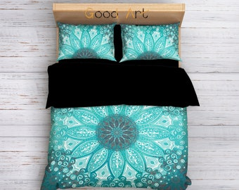 Bohemian Bedding, Boho Bedding, Mandala Bedding, Boho Chic Bedding, Queen Duvet Cover set, King Bedding, Full bedding, Hippie Bedding
