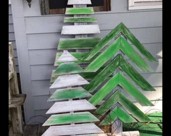 Outside Wood Christmas Trees
