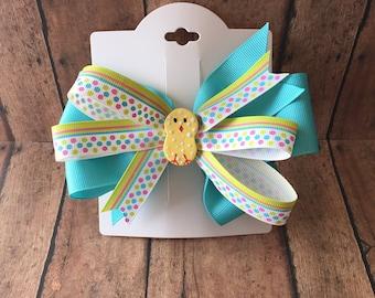 Easter hair bow, easter hair bows, springtime hair bows, easter chick hair bows, animal hair bows, easter hair clips, easter clips,