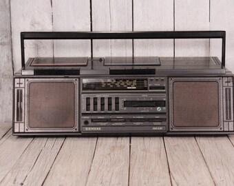 Vintage cassette tape player, Siemens RM 836 cassette player recorder, Old cassette tape player recorder, Vintage portable boombox Gift idea