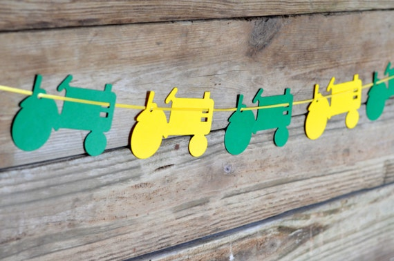 DIY Tractor Banner Kit - choose from Red, Green or Yellow, or all three!