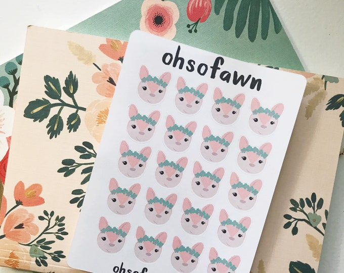 Hand Drawn Pastel Fawn Stickers