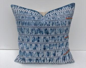 SALE !!!  Vintage Chinese Hmong batik pillow cover