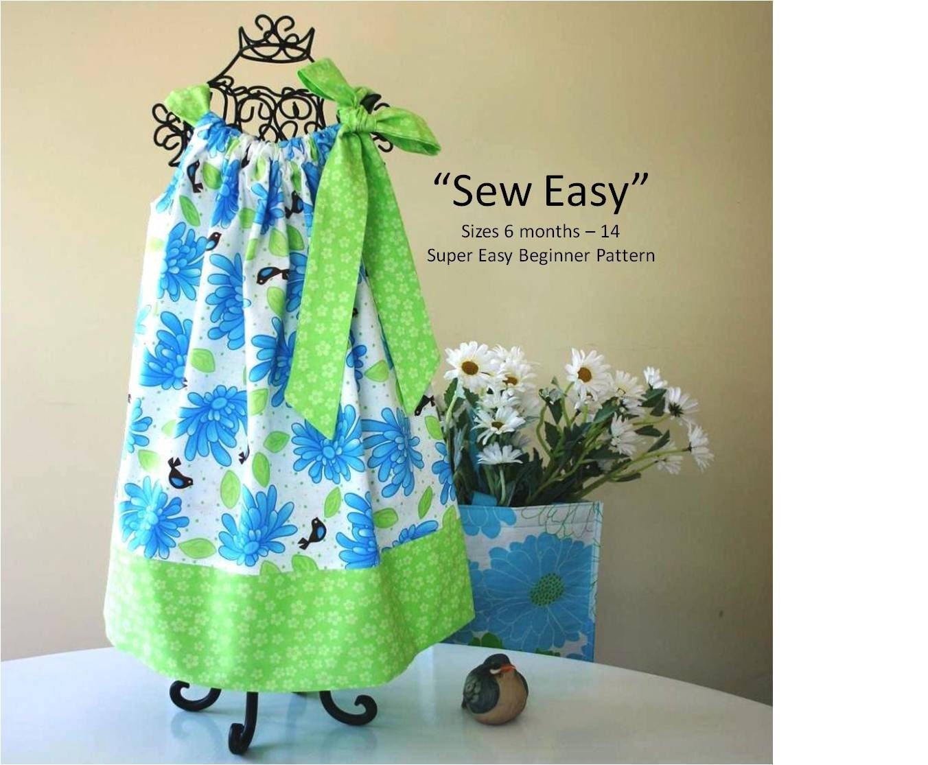Sew easy pillowcase dress pattern instant download pdf zoom jeuxipadfo Choice Image