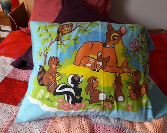 Large vintage Bambi pillow cover