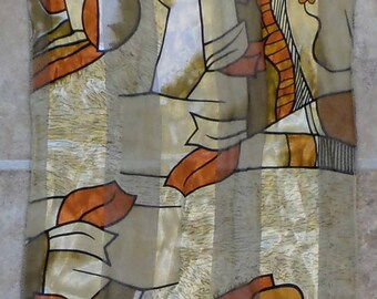 Picasso Rectangle Scarf, Abstract Scarf